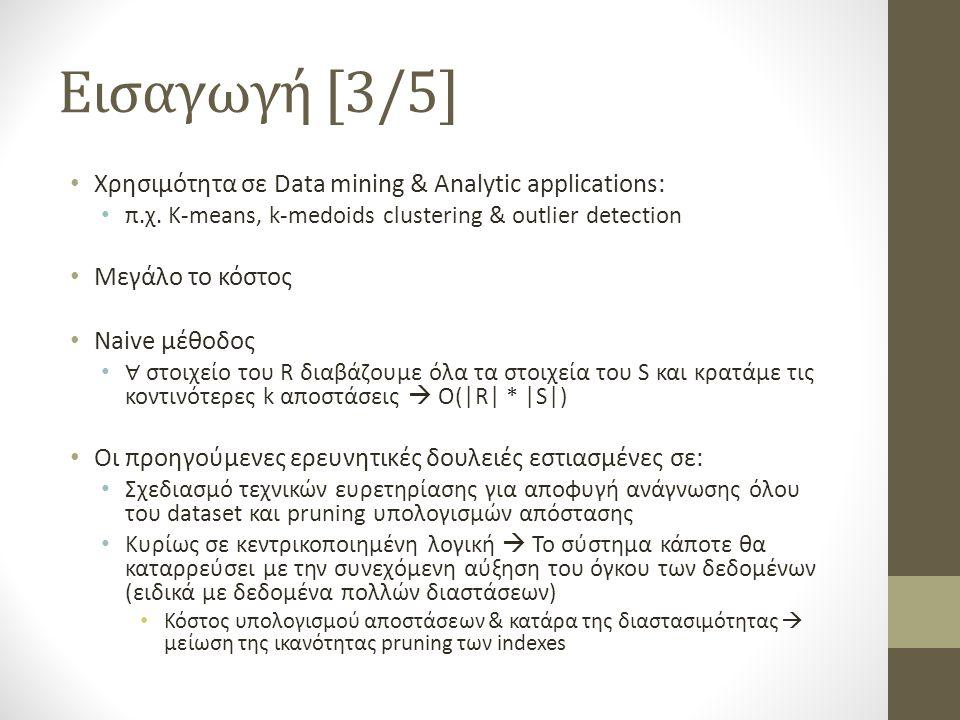 Εισαγωγή [3/5] Χρησιμότητα σε Data mining & Analytic applications: